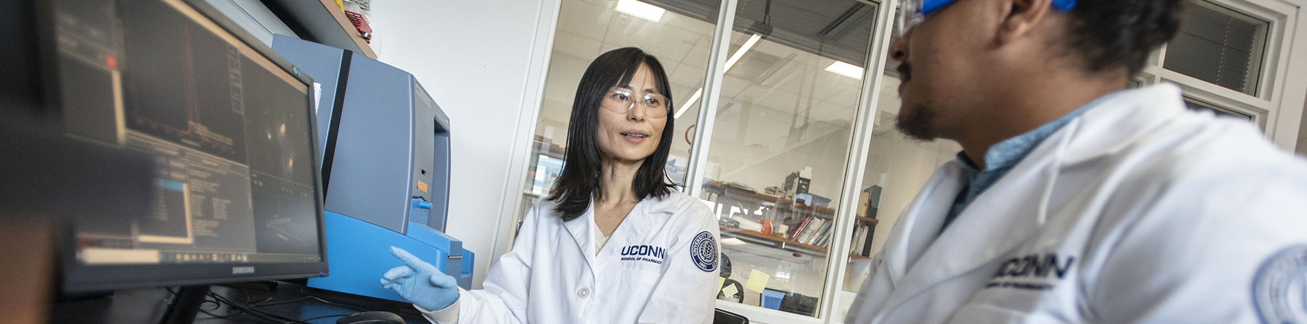 Female asian scientist in the lab